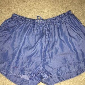 flow jean shorts